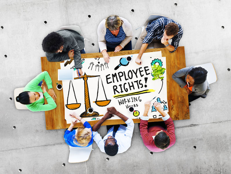 51696760 - employee rights working benefits skill career compensation concept